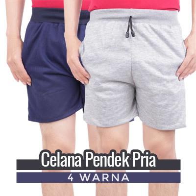 EMBA CLASSIC-Petto Two Celana Pendek Pria Warna Light Grey | Shopee Indonesia