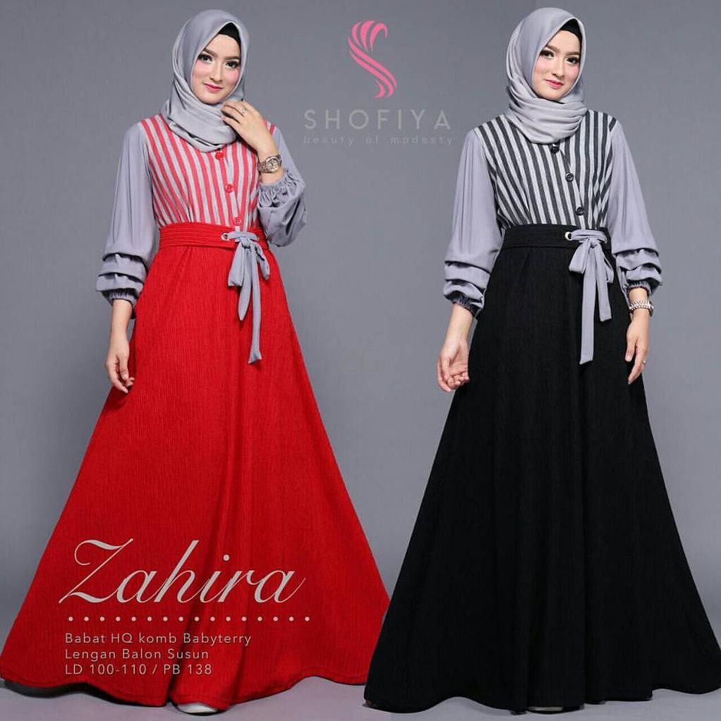 BAJU MURAH WANITA / ZAHIRA DRESS / GROSIR MUSLIM GAMIS LONG DRESS SYARI KEKINIAN   Shopee Indonesia