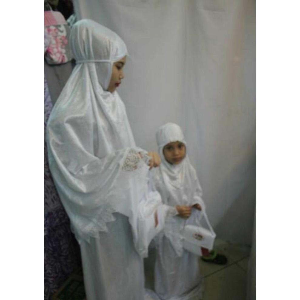 Diskon Mukena Anak Maryam Shopee Indonesia Tazkia Rayon Folksy Artwork Blue