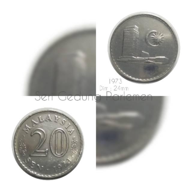 Koin Malaysia 20 Sen Gedung 1973