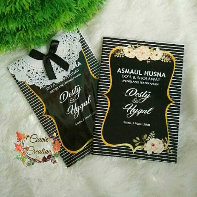 Buku Doa Dan Sholawat Pengajian Menjelang Pernikahan Dan Asmaul Husna Shopee Indonesia
