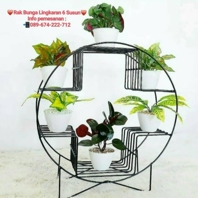 Rak Bunga Minimalis Rak Pot Bunga Hias Lingkaran 6 Susun Shopee Indonesia