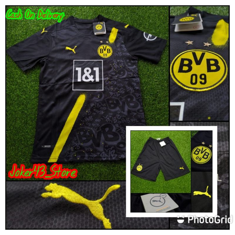 Official Jersey Borussia Dortmund Away Kit 20 21 Grade Ori Shopee Indonesia