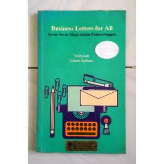 Business Letters For All Surat Surat Niaga Dalam Bahasa Inggris