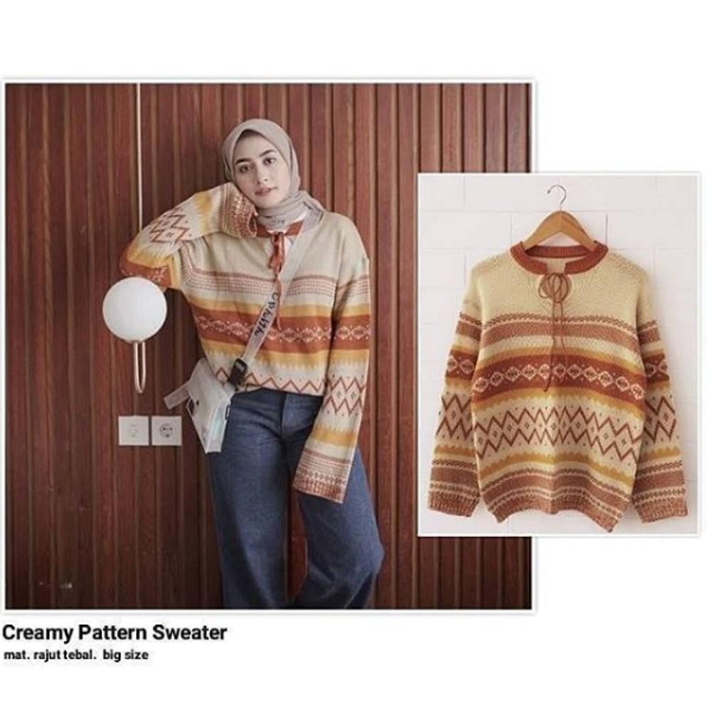 Sweater Happy Strip Shopee Indonesia Roundhand Secker Sj0015