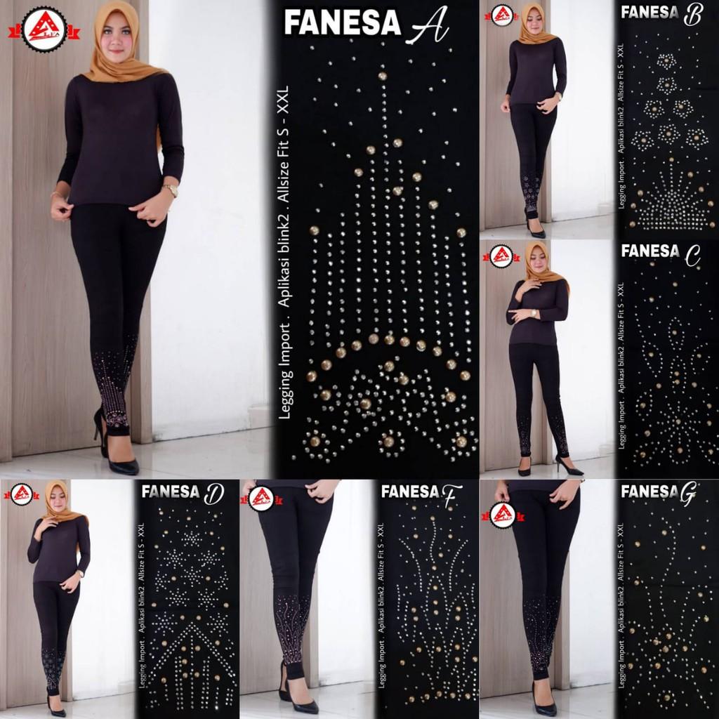 Celana Legging Wanita Fanesa Blink Blink Terbaru Shopee Indonesia