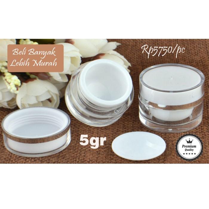 Kemasankosmetik: Pot Cream 5gr Akrilik Kualitas Premium Cream Jar Pot