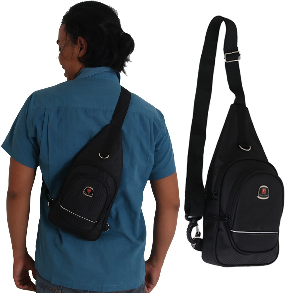 Tas selempang pria crossbody usb pouch - sling bag import F85 ... a4ae5cd75d7be