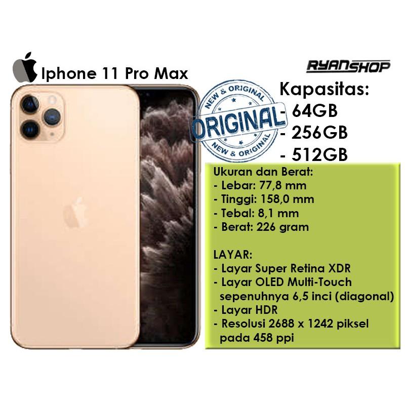 Apple Iphone 11 Pro Max 64gb 256gb Iphone 11 Pro Max Original Garansi Resmi Ibox Shopee Indonesia