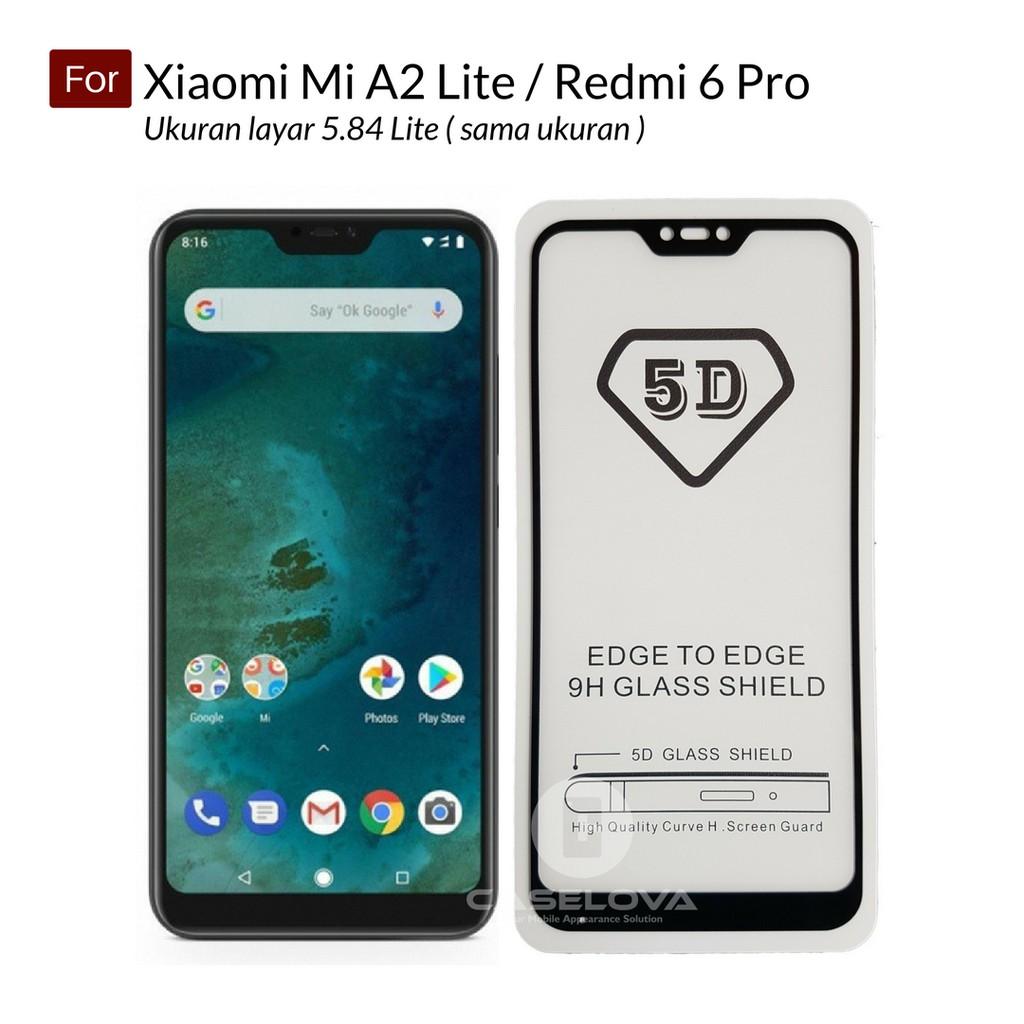 Full Cover Tempered Glass For Xiaomi Mi Max 3 Pro Mi8 SE Mi A1 A2 Lite Pocophone F1 Redmi Note 6 Pro | Shopee Indonesia