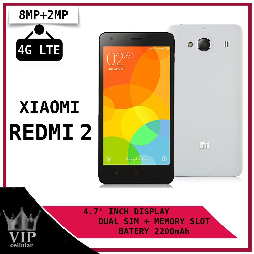 Xiaomi Xiomi Redmi 2 4g Lte Ram 1gb Rom 8gb Grey White Shopee Indonesia