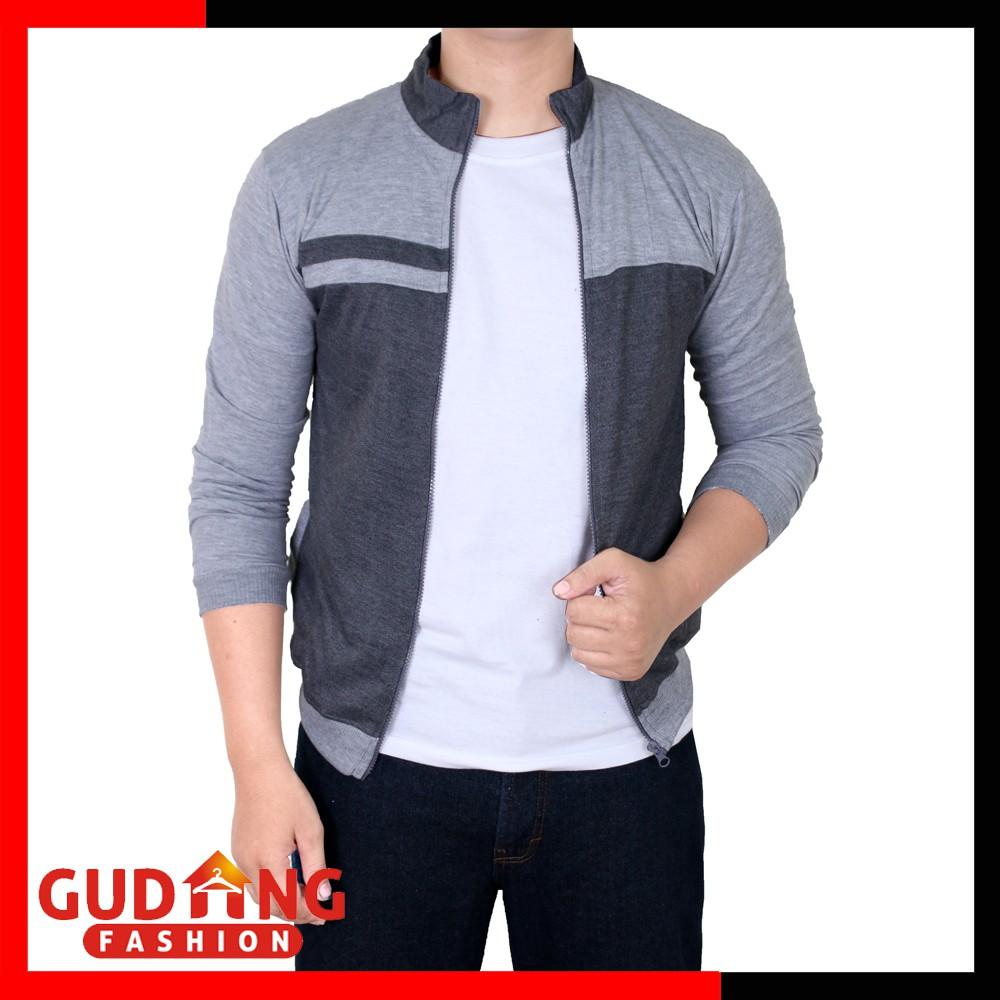 Jaket Bolak Balik Pria Parasut Abu Merah Jak 2242 Shopee Indonesia 2114