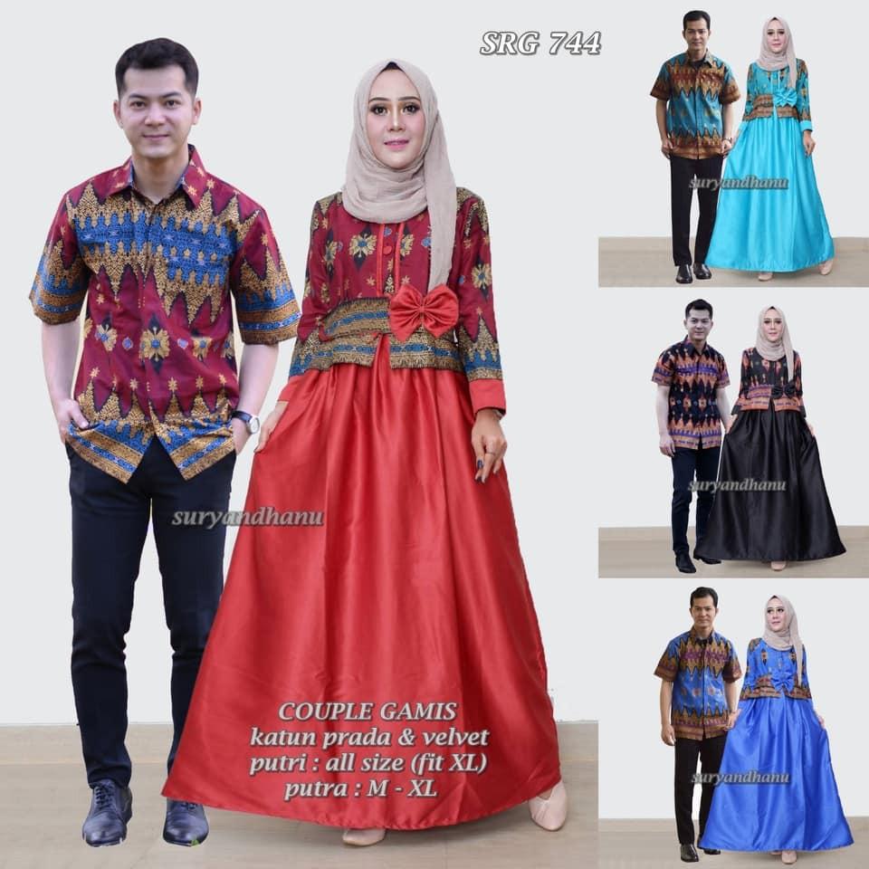 SRG 407 Sarimbit batik pita prada Couple dress  fe99b52337