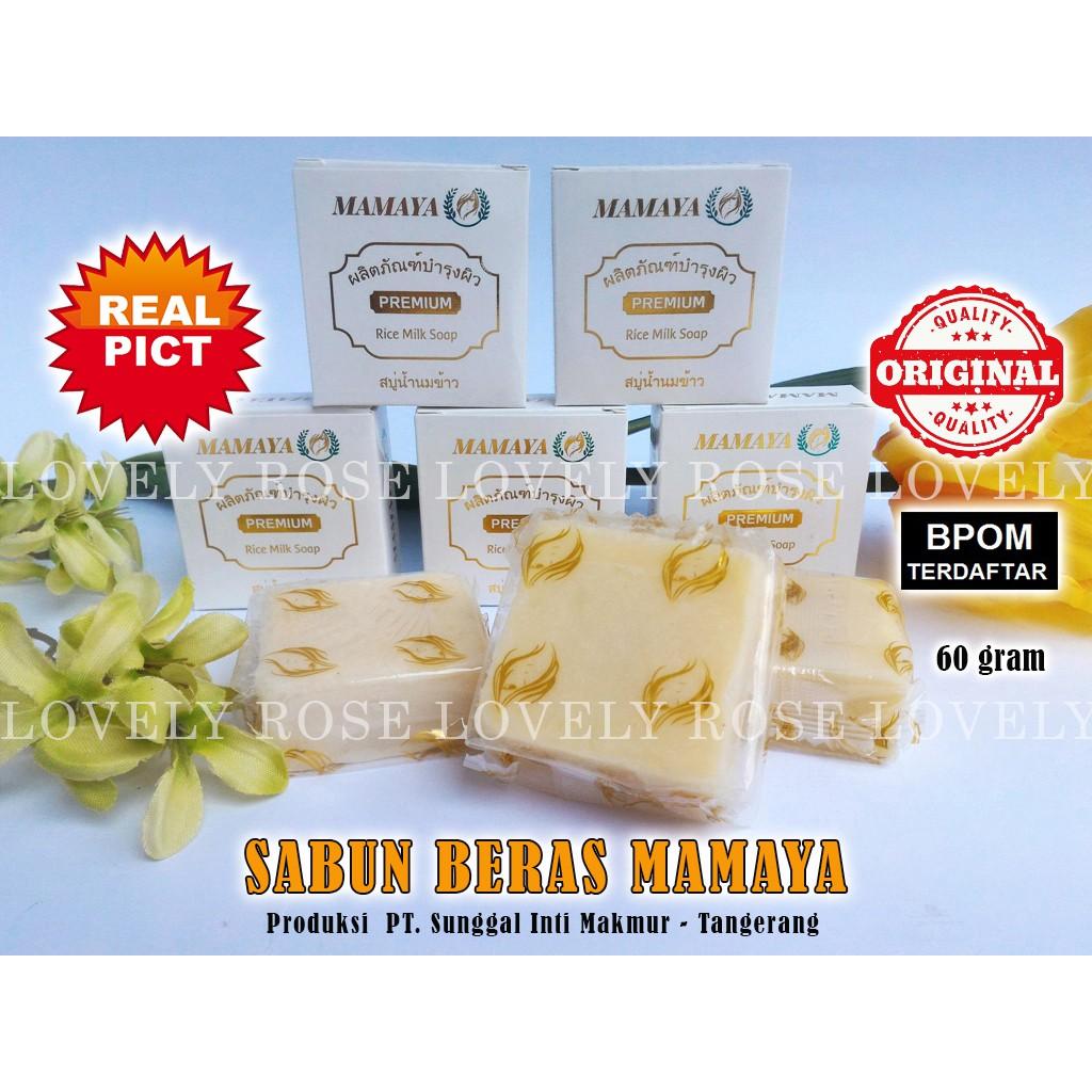Sabun Beras Mamaya Rice Milk Soap Bpom Shopee Indonesia Brightening Papaya Original By