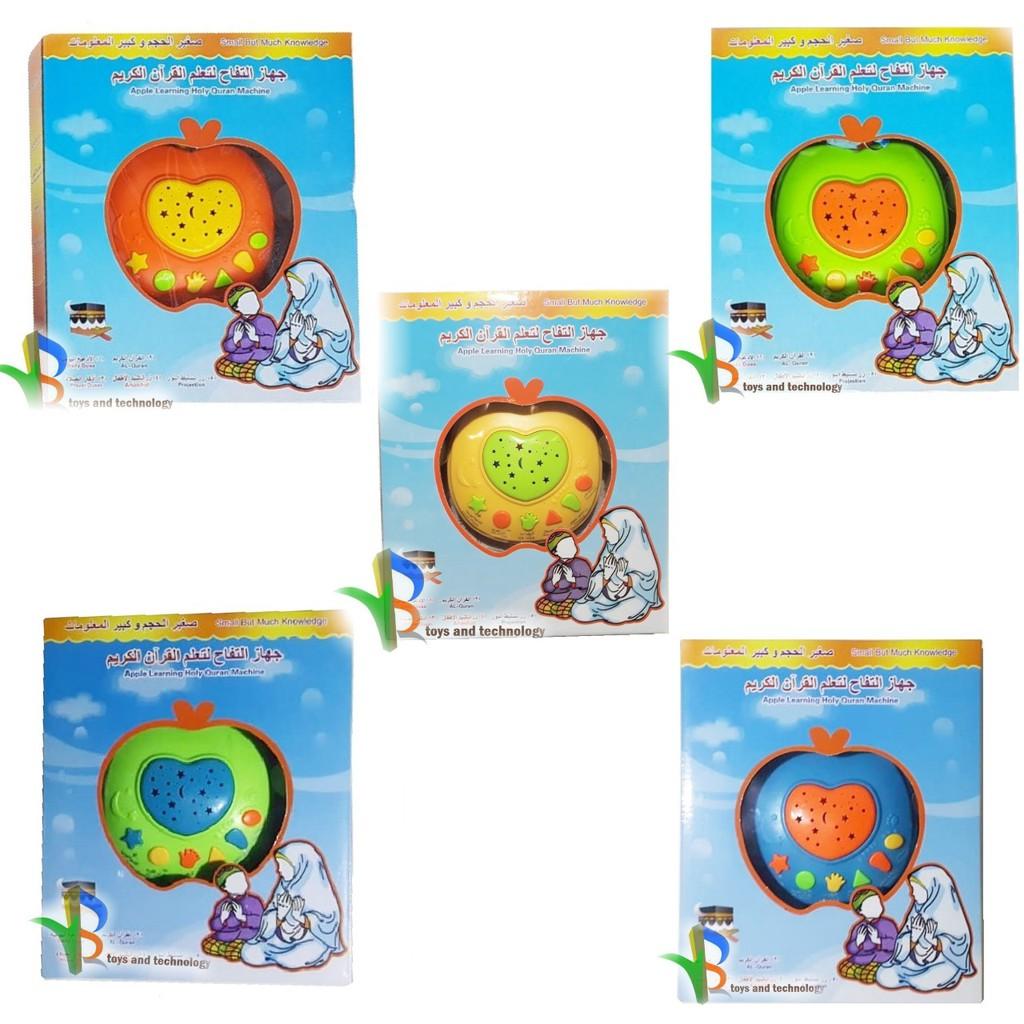 Mainan Anak Apple Learning Quran Edukasi Apel Shopee 6 Tombol Al Indonesia