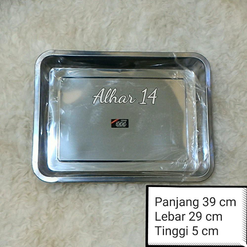 Nampan Stainless Steel 36 x 27 cm 555 / Baki .