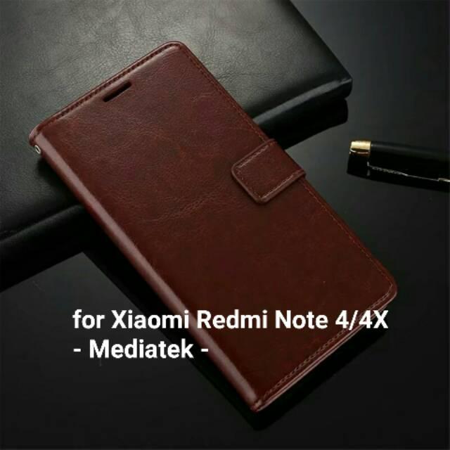 Xiaomi Redmi Note 4 4X MEDIATEK & SNAPDRAGON Flip Cover MI LOGO Model Original Case Casing hardcase | Shopee Indonesia
