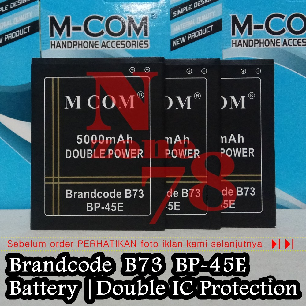 Baterai Brandcode B73 BP-45E Double IC Protection
