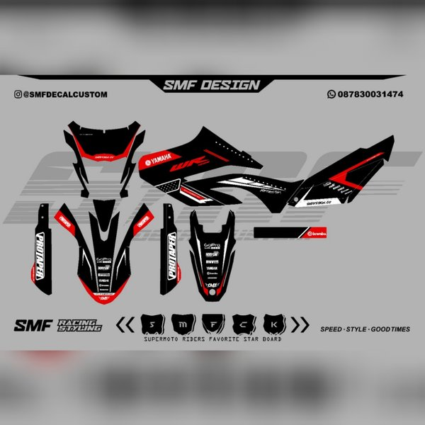 DECAL YAMAHA WR 155 DECAL FULLBODY WR 155 BAHAN MAXDECAL HIGREAT