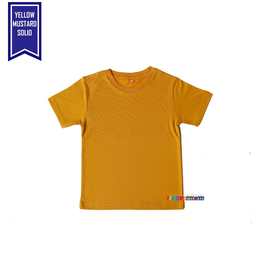 Kaos Polos Anak Warna Kuning Mustard Solid Combet 30 S Shopee Indonesia