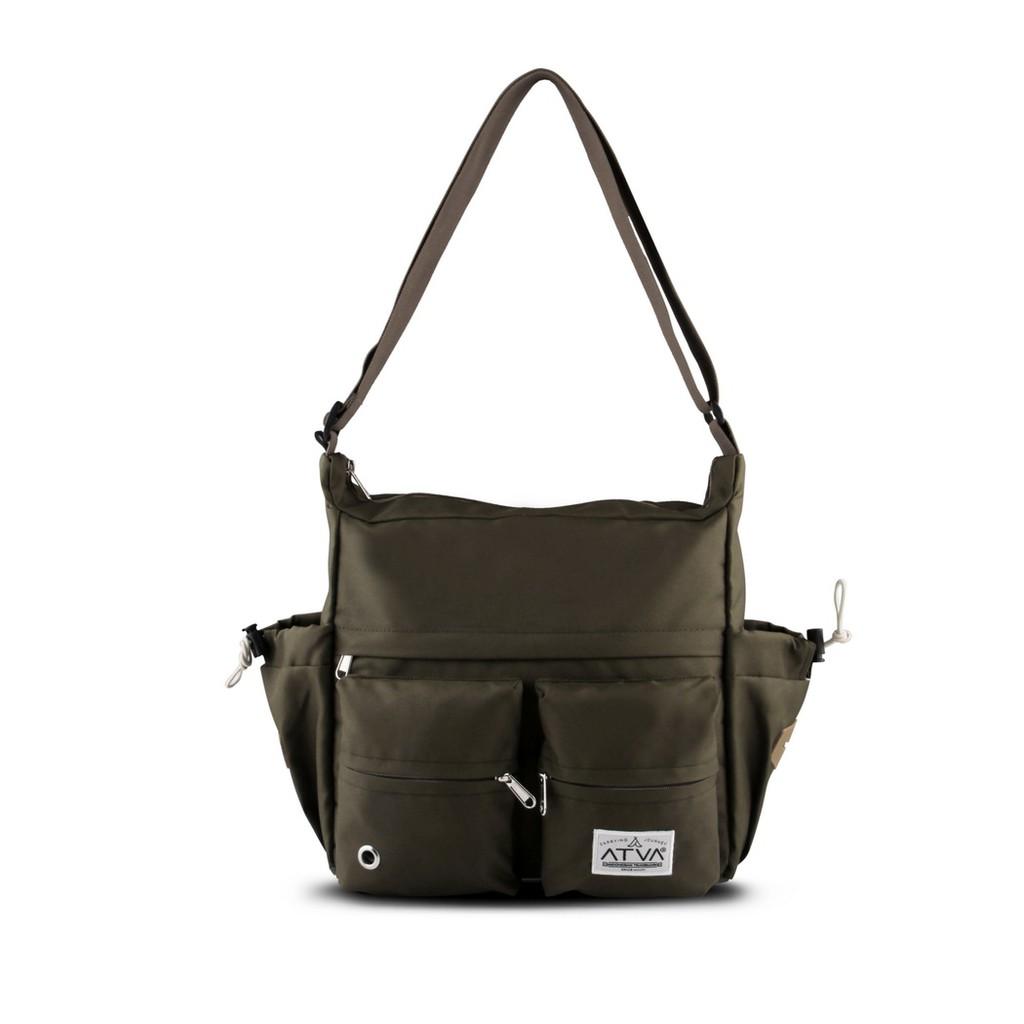 tas selempang pria – tas selempang wanita – Atva Bounce Series Olive