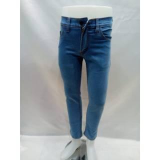 SumberRejekiJeans - Celana Jeans Panjang Slim Fit Pria Stretch Warna Biru Muda