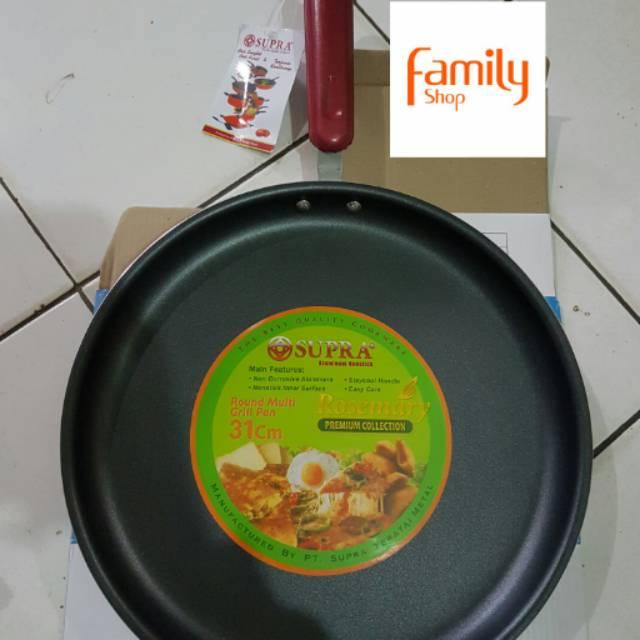 6dfe99168a86 Alat Panggang Wajan 31 cm SUPRA Round Grill Pan Datar Satay Ikan Sate