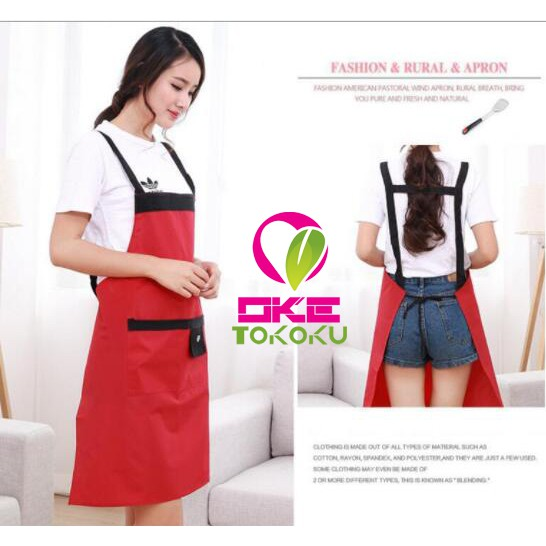 LIMITED EDITION APRON / CELEMEK PVC SPONGE SYNTHETIC LEATHER WATERPROOF JK1092 | Shopee Indonesia