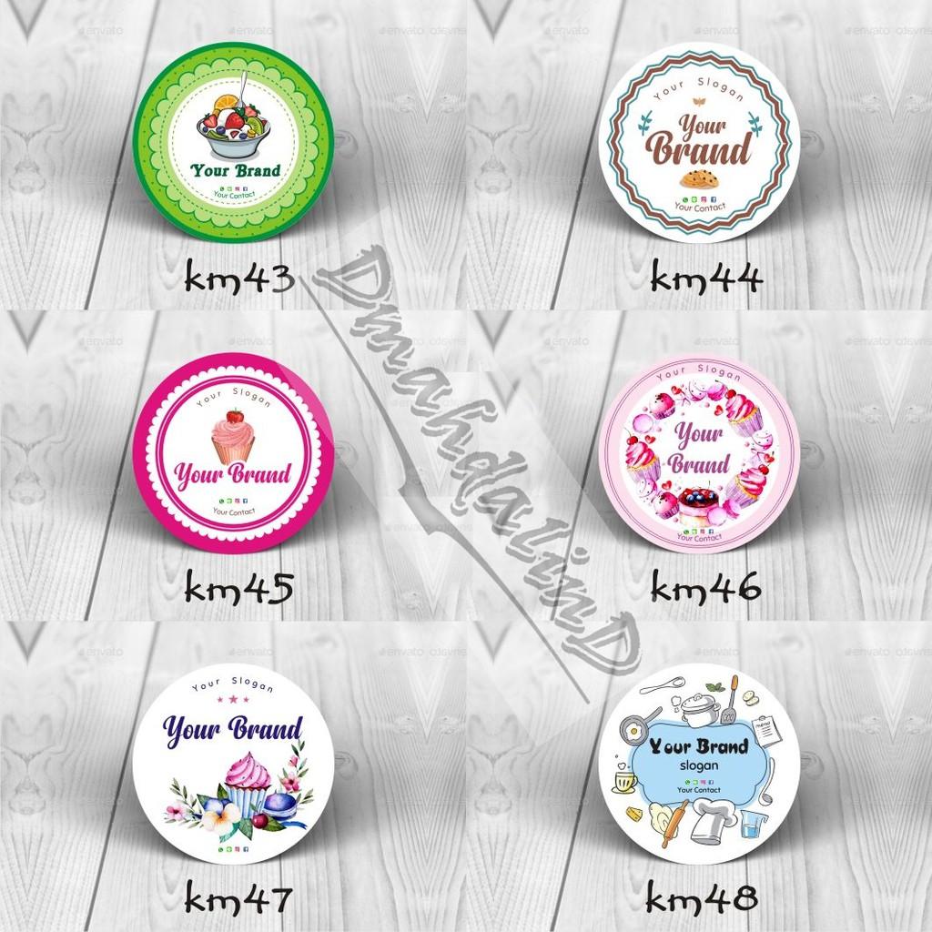 Cetak Stiker A3 Logo Label Kemasan Makanan Minuman Kue Jus Pudot
