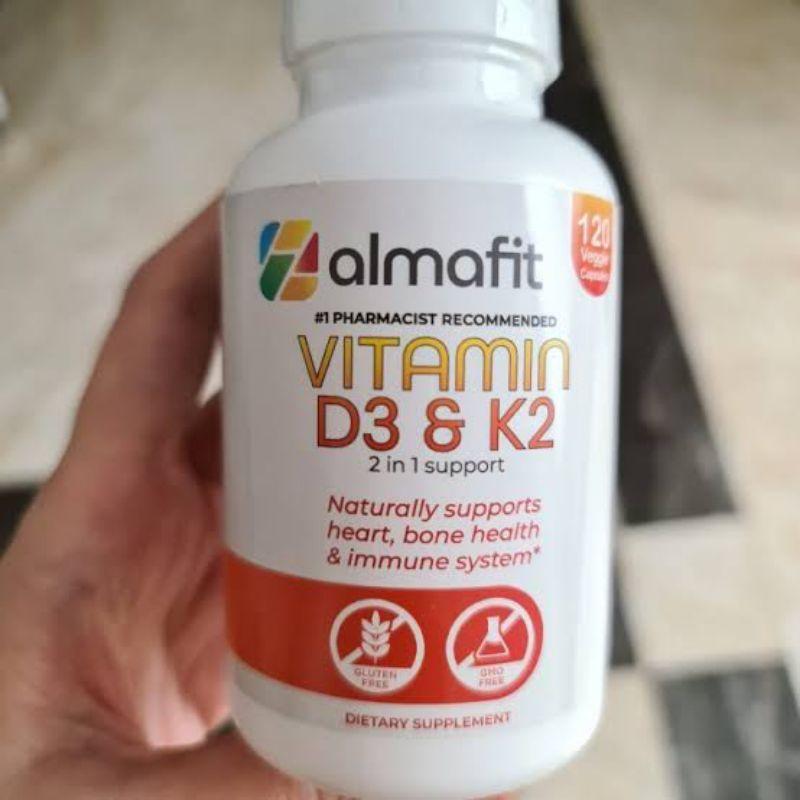 [ Terlaris ] Almafit Vitamin d3 k2 5000iu 120 veggie capsule ampuh