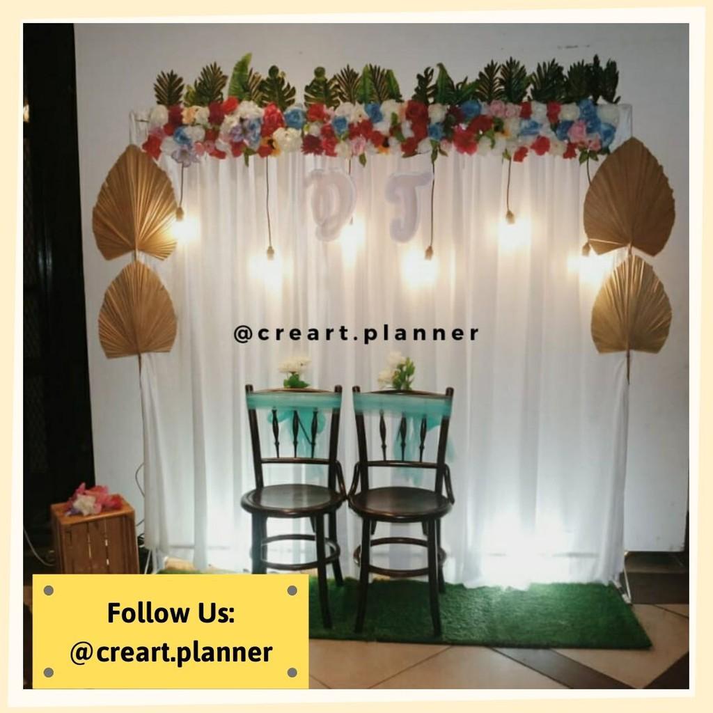 Backdrop Lamaran/ Dekorasi Lamaran /Dekorasi Pernikahan 15