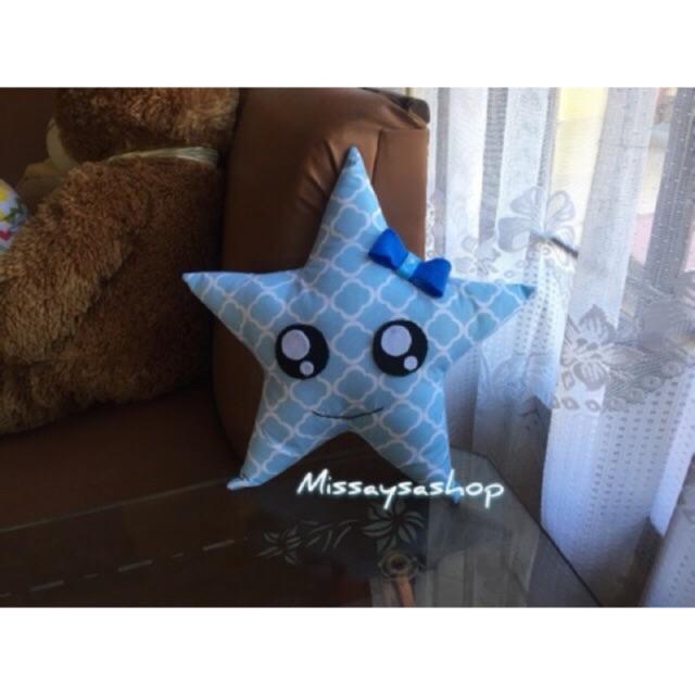 Bantal Boneka Lampu Bintang Termurah Led Star Pillow Termasuk Baterai -  Biru -  576db7b48a
