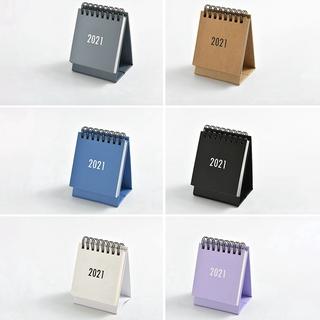 Kalender Meja Tahun 2021 Desain Simple Warna Hitam Putih ...