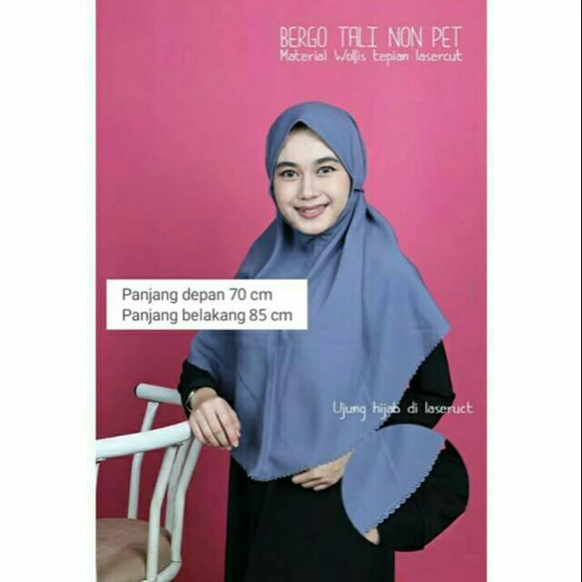 Bergo Maryam Bergo Tali Non Pet Tepi Lasercut Shopee Indonesia