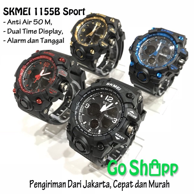 SKMEI VORTEX original VX1005 Sports Analog Digital Watch - Jam Tangan Pria  - STRAP RUBBER  d23ef4c7fb