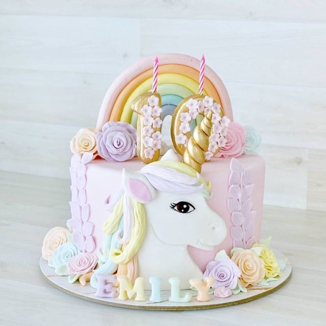 Unicorn Birthday Cake Kue Ulang Tahun Kuda Poni Custom Kue Tart Anak Perempuan Unicorn Cake