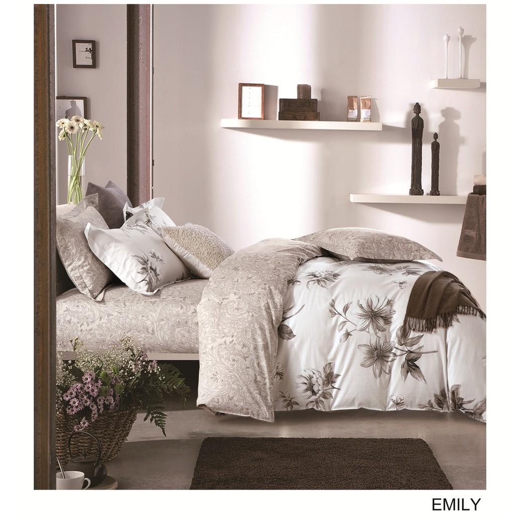 Juliahie Bed Cover Double Only By Bloomingdale Shopee Indonesia Sarung Guling Tahan Air Asli