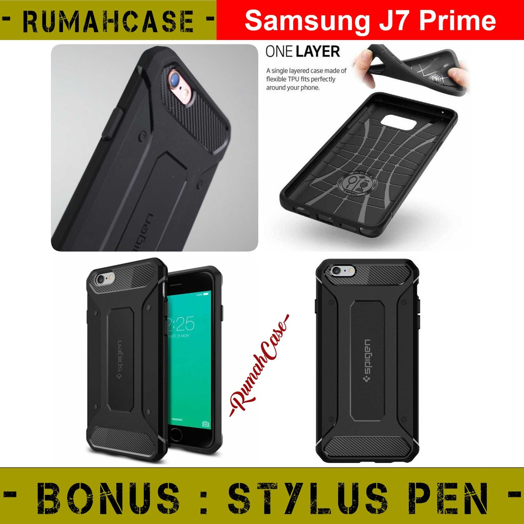 Samsung J7 Prime Spigen Rugged Capsule Armor Case Casing Cover Silkon Jelly Softcase Kondom Slim Oppo A39 A57 Black Shopee Indonesia