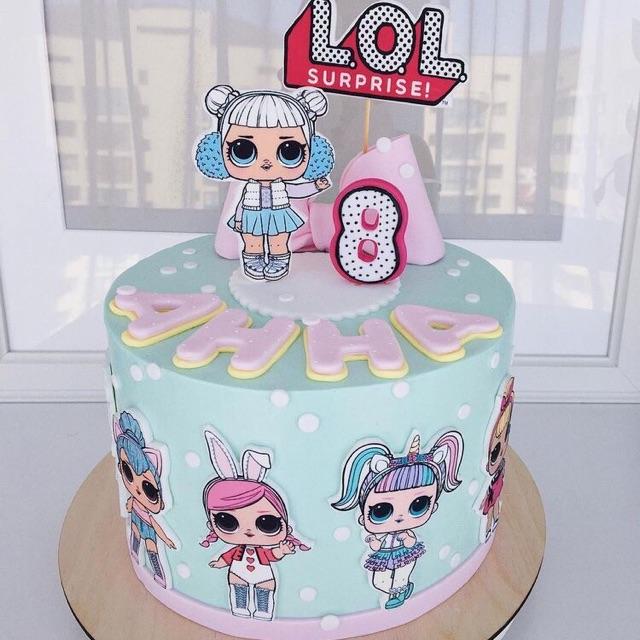 Lol Birthday Cake Kue Ulang Tahun Boneka Lol Custom Kue Tart Ulang Tahun