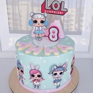 Lol Birthday Cake Kue Ulang Tahun Boneka Lol Custom Kue Tart Ulang Tahun Shopee Indonesia