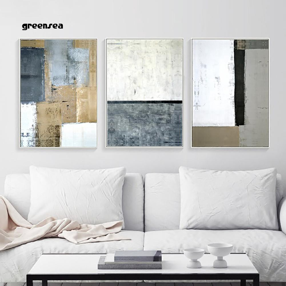 Greensea Creative Black White Abstract Wall Art Painting Canvas Poster Home Decoration Shopee Indonesia