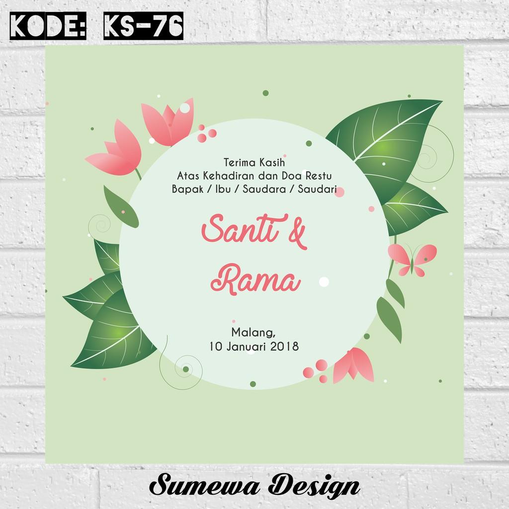 Kartu Souvenir Ucapan Terima Kasih Kupon Ks76 Pernikahan 5 Shopee Indonesia