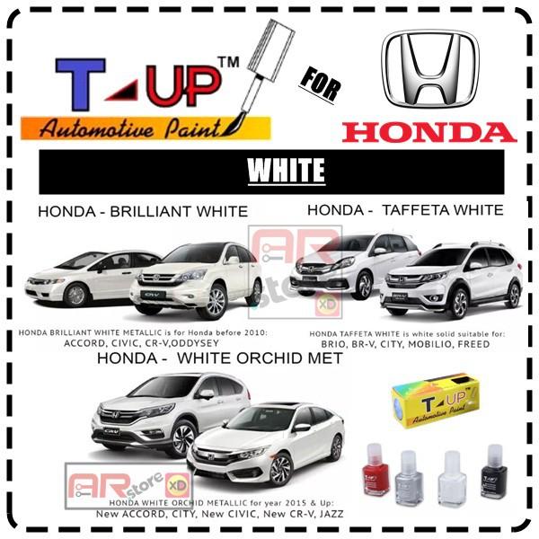 Auto Paint Touch Up >> Honda White T Up Touch Up Paint Cat Oles Penghilang Baret Dan Lecet