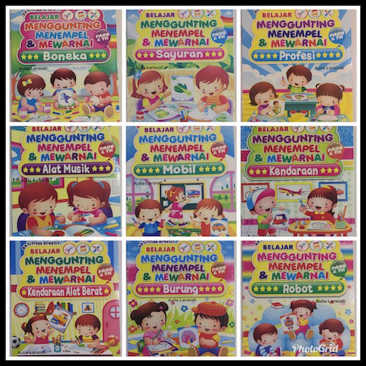 Buku Anak Gunting Tempel Dan Mewarnai Seri Hewan Shopee Indonesia