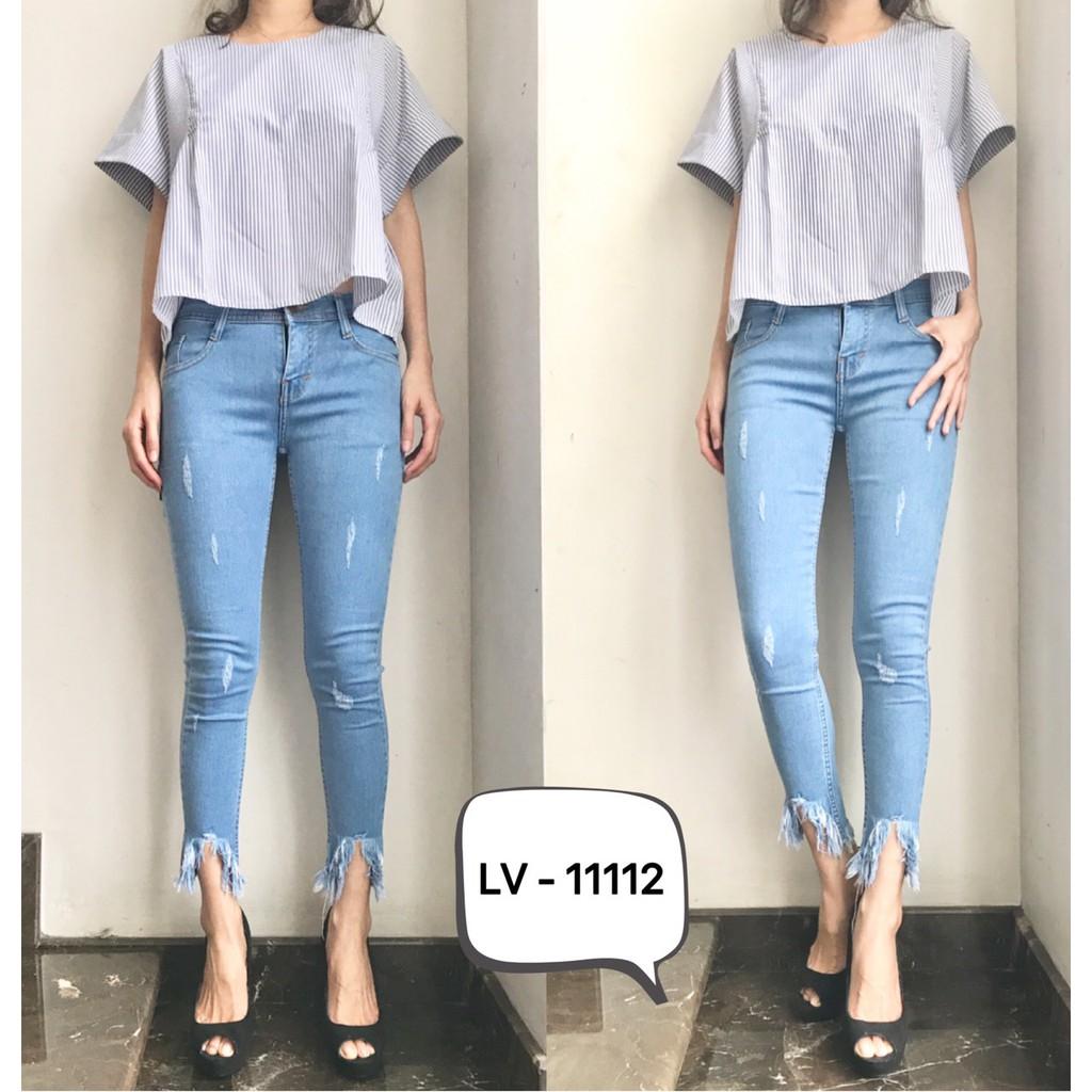11112 Claw Soft Jeans Wanita Stretch Cakar Sobek Tidak Tembus 27 30 Kekinian Murah Shopee Indonesia