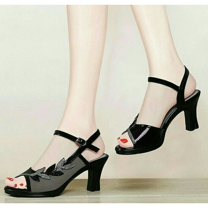 Harga Termurah Arunni Sandal Wanita High Heels Ready Heels Wanita Import  Pesta Valentino 5Cm  84d3f5c047
