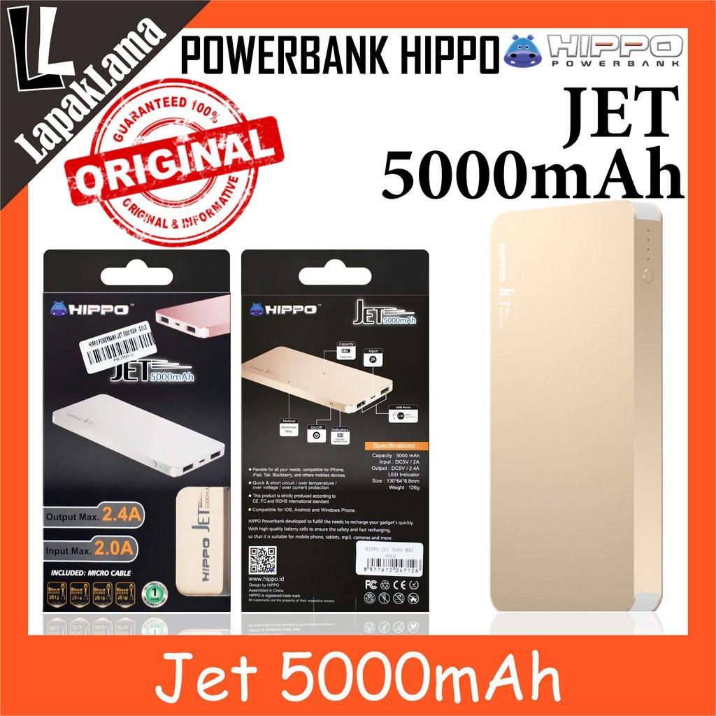 Powerbank Power Bank Hippo Titan1 6000mah Original 100 Titan 1 6000 Mah Simple Pack Ori Shopee Indonesia
