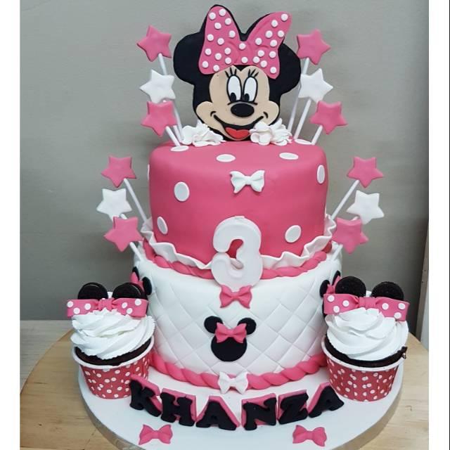 Kue Ulang Tahun Minnie Mouse Pink Untuk Anak Perempuan Shopee Indonesia