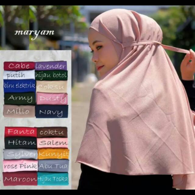 Hijab Bergo Maryam Shopee Indonesia