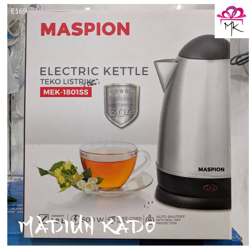 Electric Kettle Maspion Mek 1801 Ss Teko Listrik Shopee Indonesia Harga teko listrik stainless